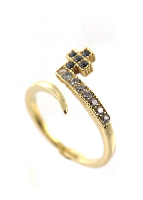 Χρυσό δαχτυλίδι με προσαρμόσιμο μέγεθος | L'or.D