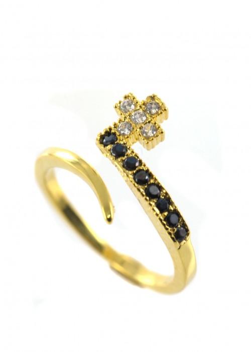 Δαχτυλίδι με σταυρουδάκι | L'or.D