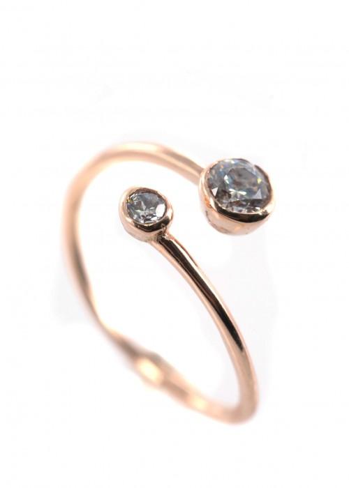 Δαχτυλίδι με Swarovski λευκού χρώματος | L'or.D