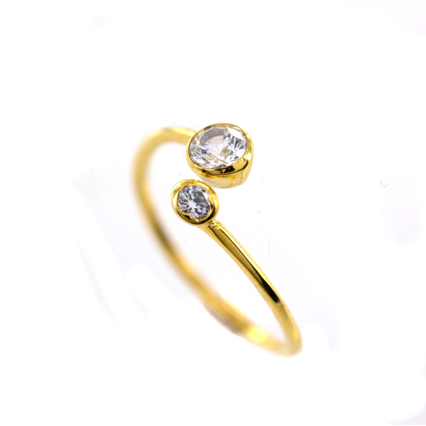 Υπέροχο χειροποίητο χρυσό δαχτυλίδι με Swarovski  b31ecf2b9dd