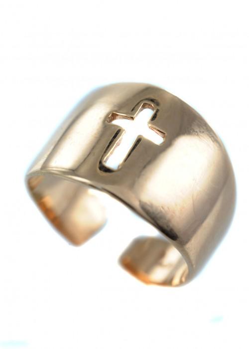 Δαχτυλίδι με σχέδιο σταυρού | L'or.D