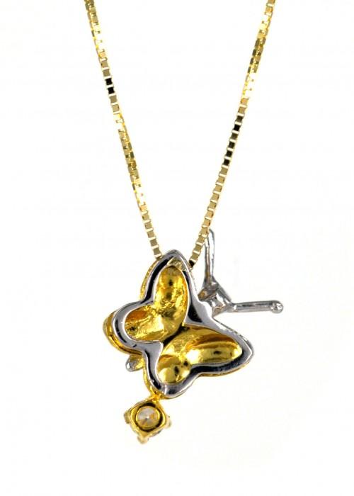 Πεταλούδα κολιέ από χρυσό| L'or.D