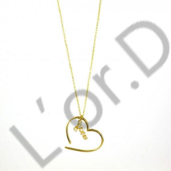Κολιέ καρδούλα με χρυσή αλυσίδα  508d57d3bba